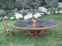 Hand Made 9' Round Table With Fire Pit In The Middle by ...