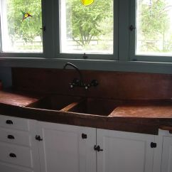 Copper Sink Kitchen Double Custom By Iron John Logan Tree Made