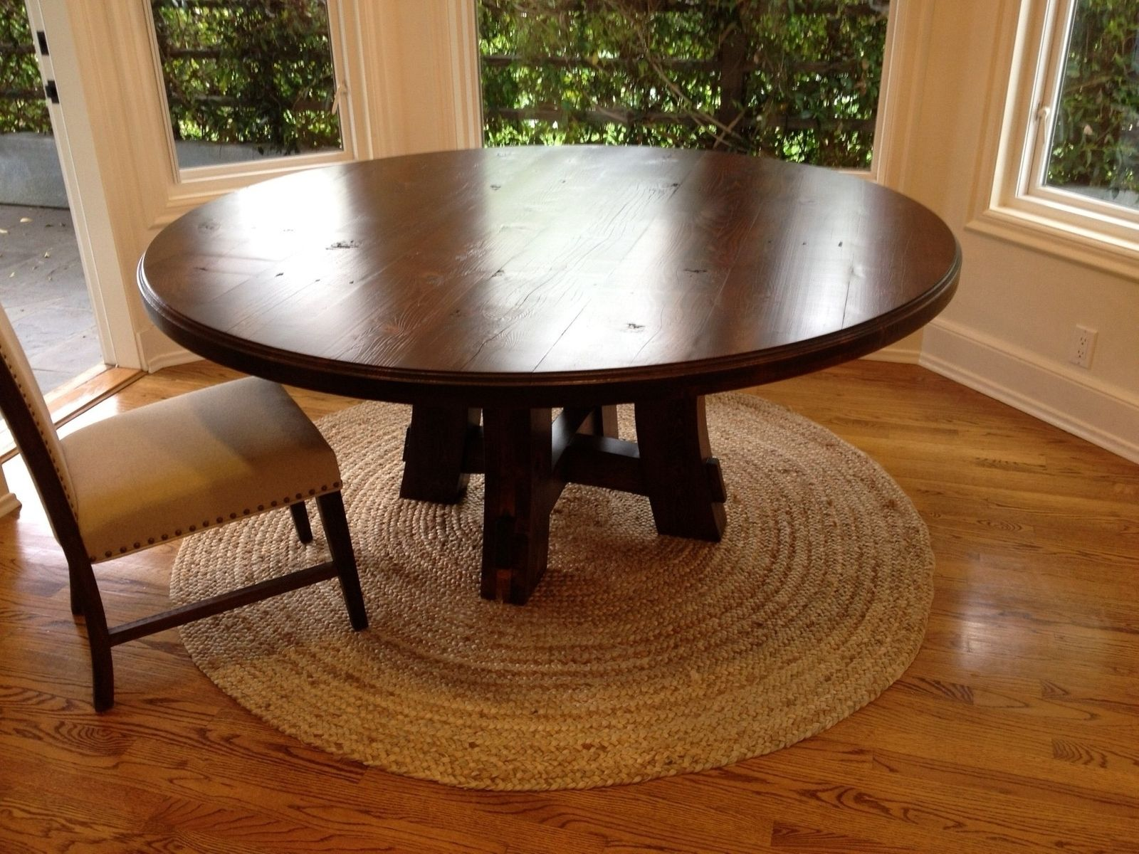 round wooden kitchen table cabinet kings reviews custom carruthers 70 quot by farmhouse