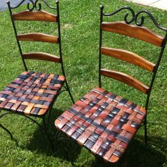 Custom Made Throne Chairs Bjs Beach Hand Kitchen Chair Set With Woven Leather Recycled