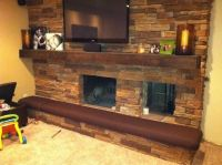 Hand Made Man Cave Fireplace Hearth Cushion by Hearth And ...