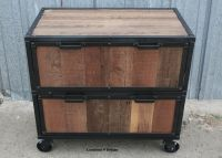 Buy a Hand Made Vintage Industrial File Cabinet. Reclaimed ...