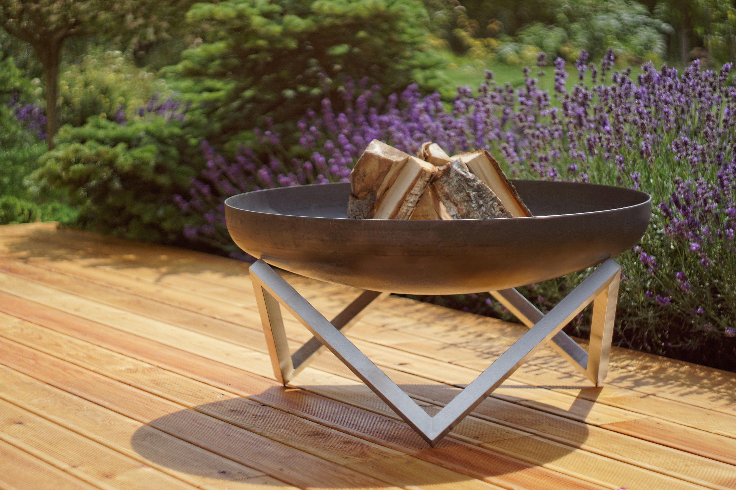 Buy a Hand Crafted Modern Outdoor Patio Rust  Stainless