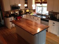 Hand Crafted Solid Walnut Kitchen Island Top by Custom ...