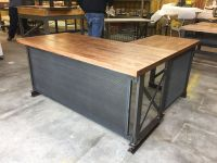 Buy a Custom The Carruca Desk, made to order from Iron Age ...