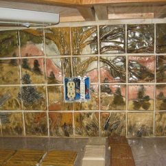 Ceramic Tile Kitchen For Countertops Hand Crafted Custom Wildlife Backsplash By Made
