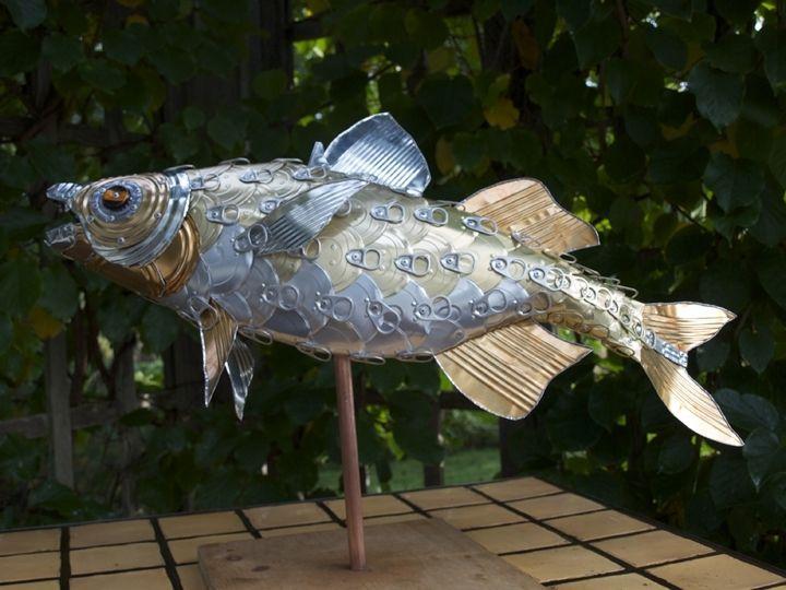 Handmade Perch Fish Sculpture By Alanna Baird