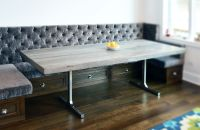 Hand Crafted Reclaimed Wood Rustic Grey Dining Table by ...