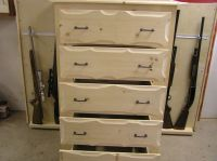 Handmade Rustic Pine Dresser With Gun Storage by New