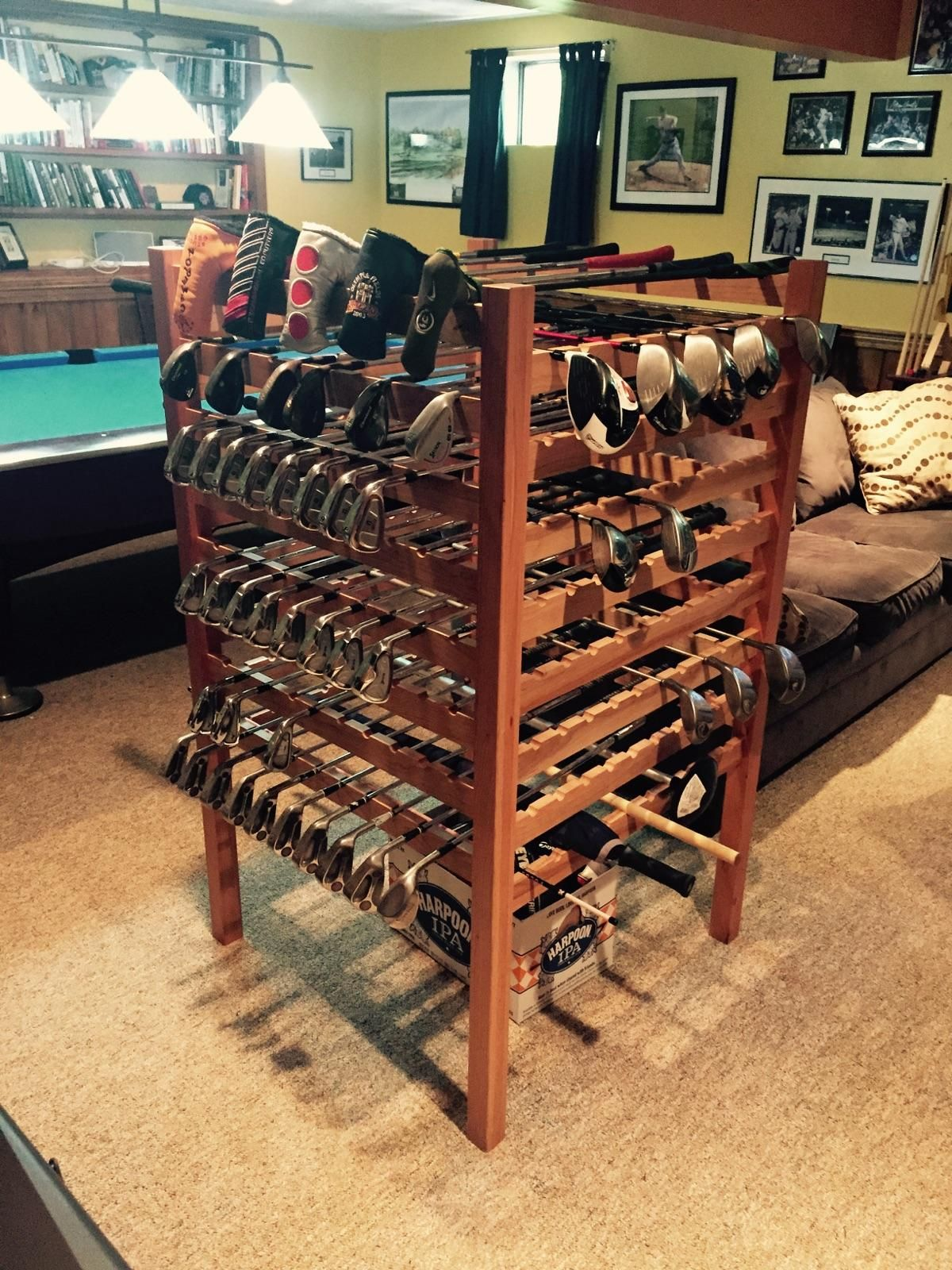 Hand Crafted Cherry Golf Club Display Rack By Lyons