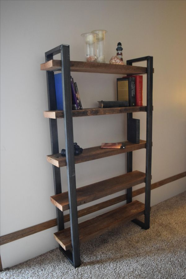 Custom Industrial Style Bookcase Light Of