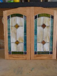 Hand Made Cabinet Door Stained Glass Panels by Chapman
