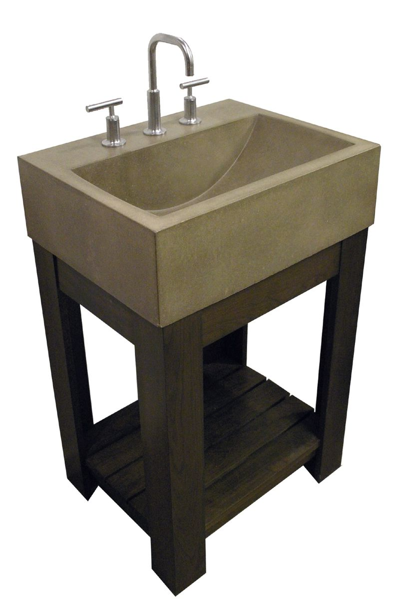 Handmade Concrete Sink  Lacus Concrete Sink by Trueform Concrete  CustomMadecom