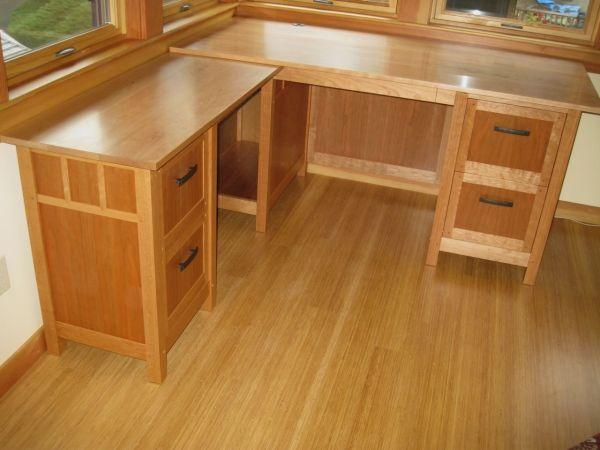 Handmade Newberg Cherry Desk Dogwood Design