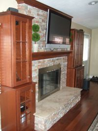 Hand Crafted Mantel, Crown Molding, Stone Fireplace ...