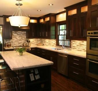 Hand Made Mission Style Solid Oak Kitchen Cabinets By R