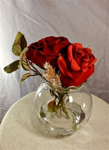Hand Made Double Red Rose Centerpiece by marys4everflowers  CustomMadecom