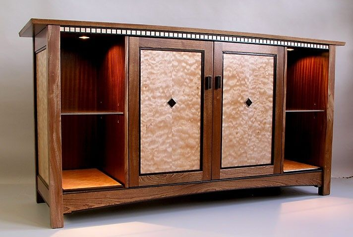 Hand Made Mission Style AudioVideo Cabinet by Joel