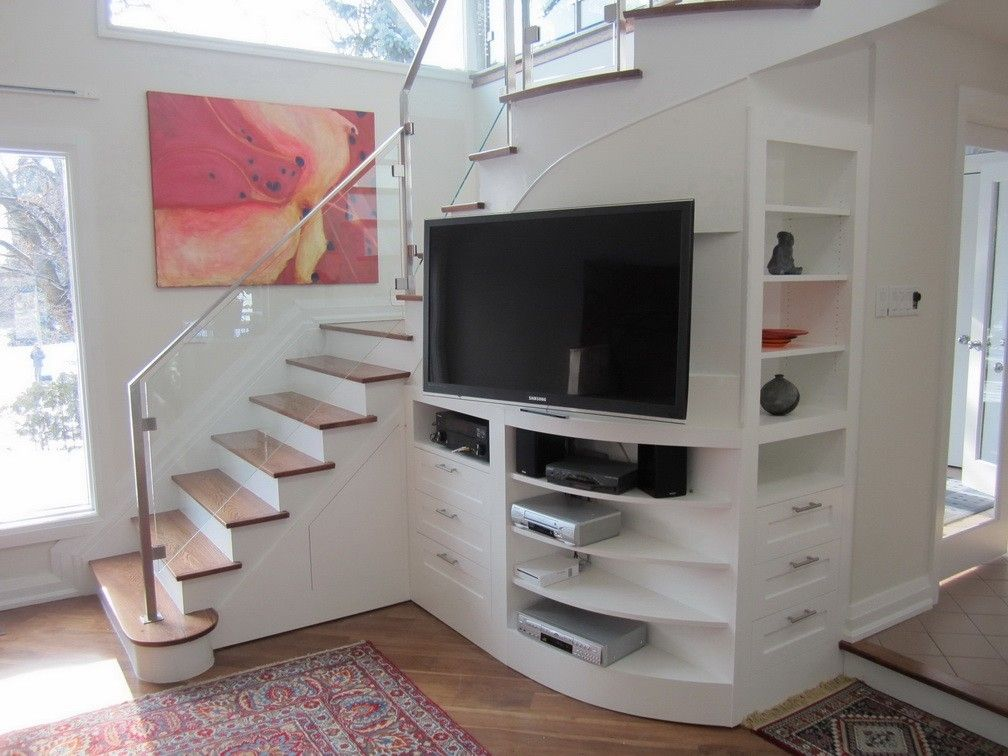 Custom Under Stair Entertainment Center by Lipa  Woodwork