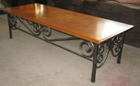 Custom Made Wrought Iron Coffee Table by Mciron ...