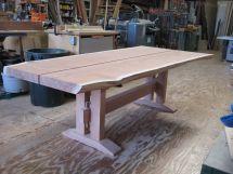 Handmade Redwood Dining Table Splinter