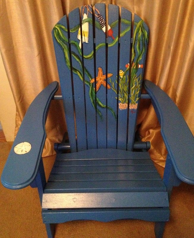 paint for adirondack chairs chair covers folding rent hand crafted painted by beach k custom made