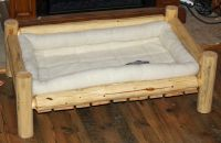 Handmade Rustic Log Pet Beds by The Rustic Woodshop