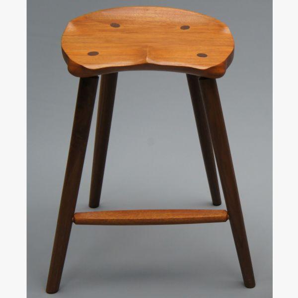 Custom Saddle Seat Bar Stool Counter Height