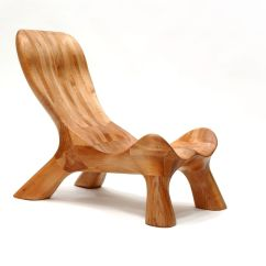 Handmade Wooden Chairs Nautical Bedroom Chair Curvechair Organically Carved Solid Wood
