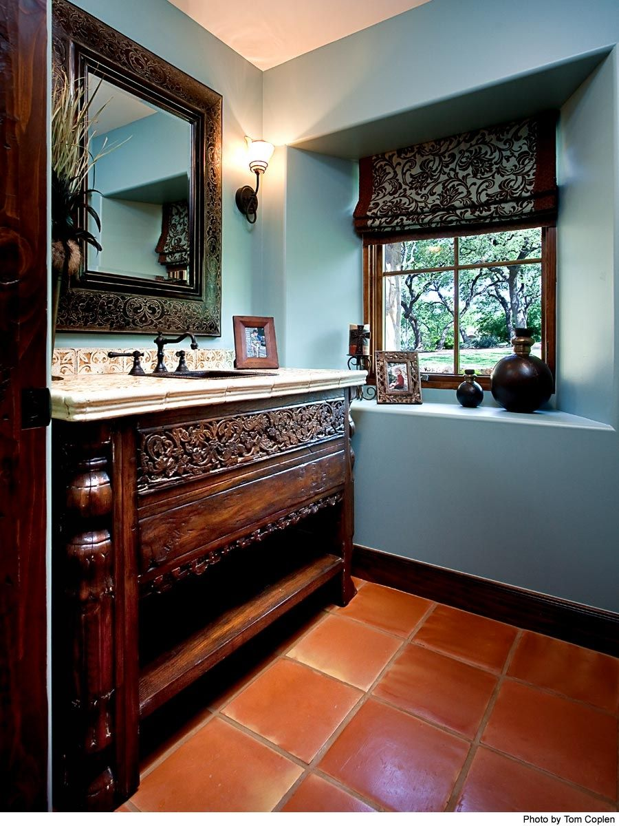 Handmade Custom Bathroom Cabinets by La Puerta Originals Inc  CustomMadecom