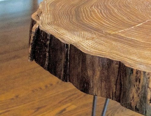industrial style living room furniture rooms decorated for christmas custom natural live edge round slab side table / coffee ...
