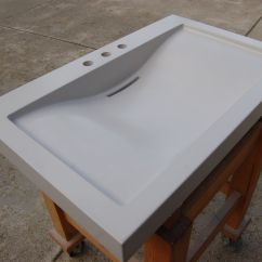 Concrete Kitchen Sink Ceiling Lighting Fixtures Handmade Balboa By Agitated Aggregate