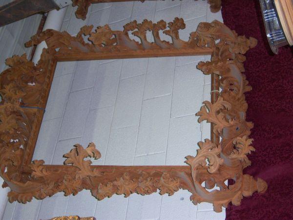 Hand Carved Baroque Mirror Frame Artchitectural