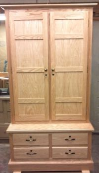 Hand Made Gun Cabinet by Mountain Top Woodcrafts ...