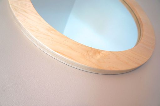 """Hand Made Solid Maple Wall Mirror-24"""" Round By Musheno"""
