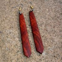 Custom Wood Earrings Of Manzanita Burl, Very Lightweight ...