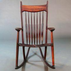 Handmade Rocking Chairs Lafuma Pop Up Pauduk Maloof Inspired Chair By Gerspach Custom Made