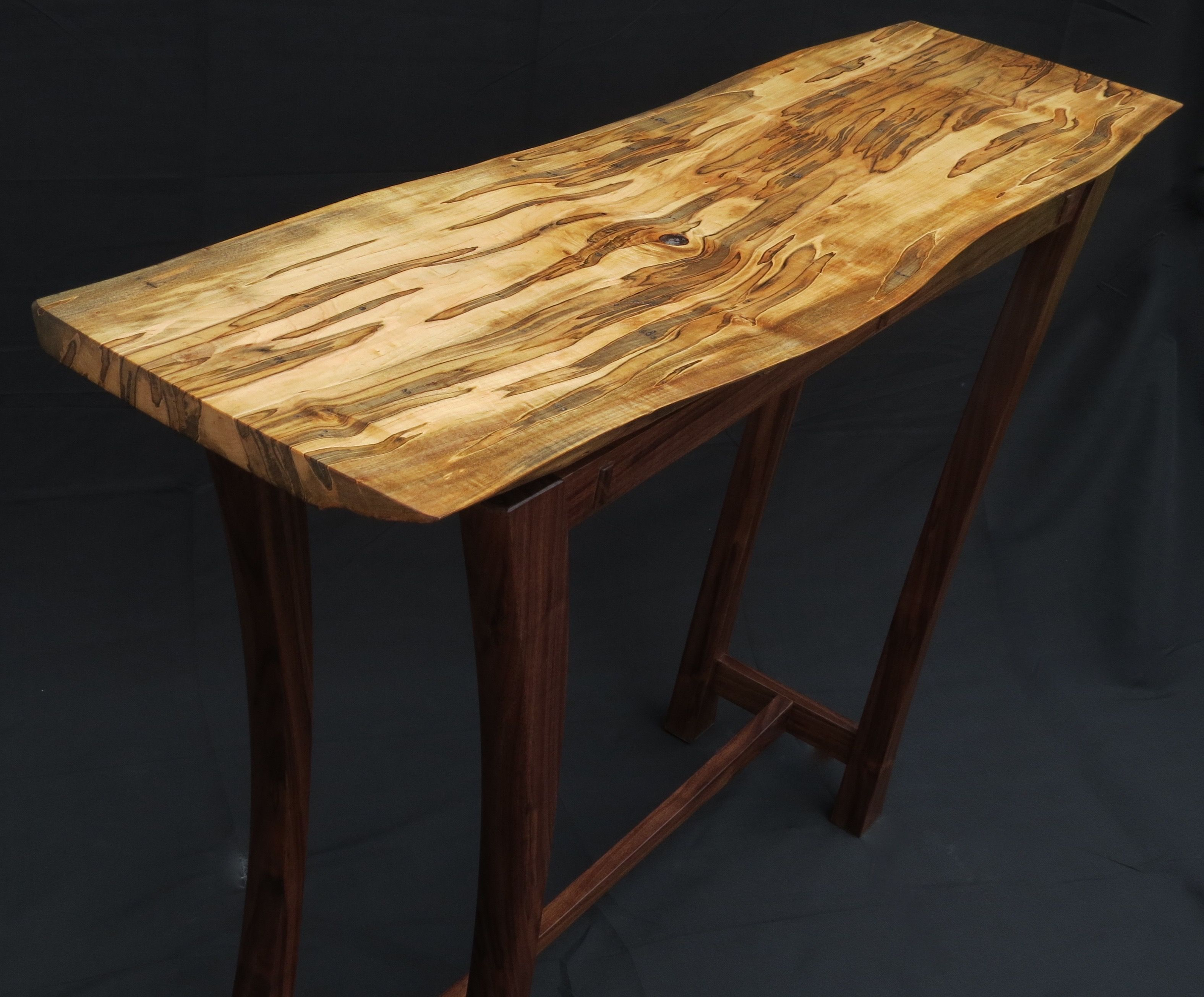 Hand Made Live Edge Hall Entry Sofa Table By Glued Up Woodworking