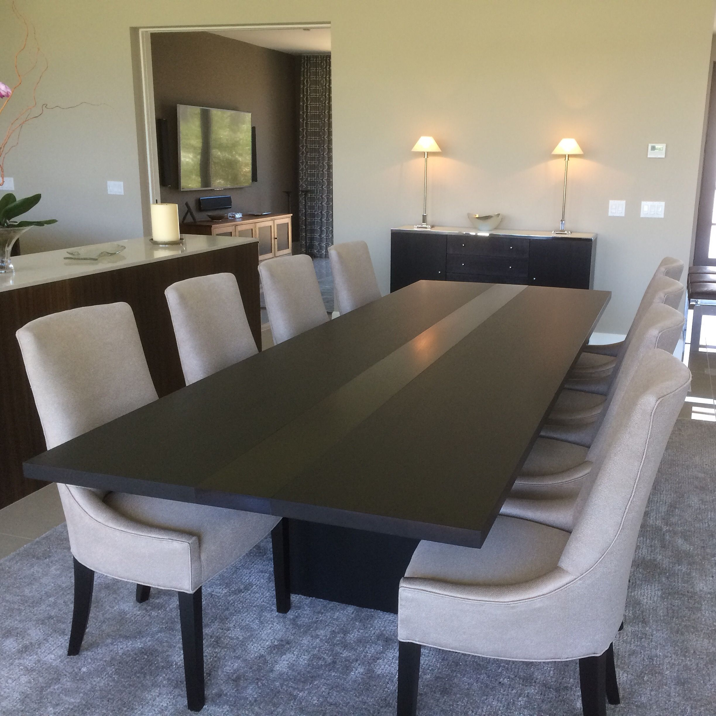 handmade modern dining table