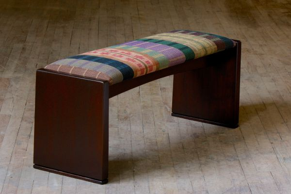 Hand Made Upholstered Bench by Richard Helgeson ...
