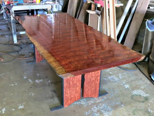 farm house kitchen table american standard faucet repair custom made live edge bubinga dining by donald mee ...