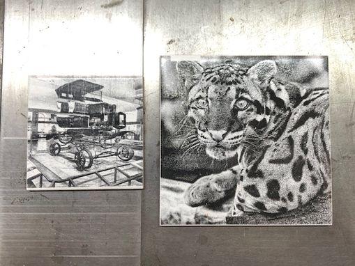 picture laser engraved on tile