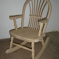 White Rocking Chairs For Sale Splat Tapered Back Windsor Chair Custom New Solid Oak Wood Childrens Rocker By Made