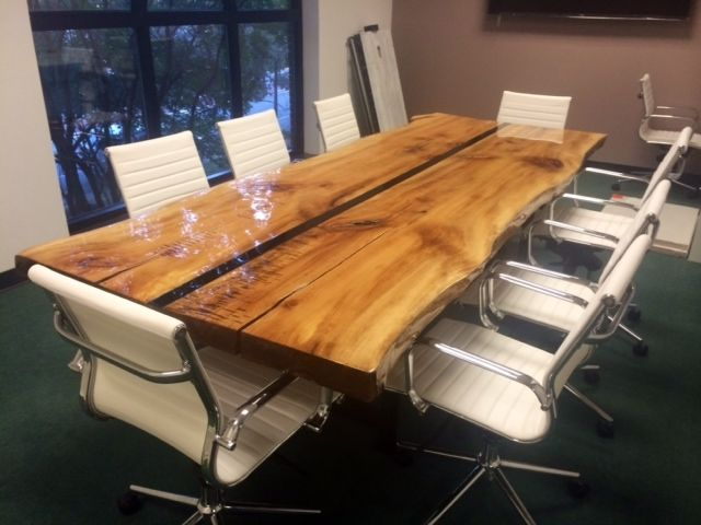 Custom Made 10 Live Edge Conference Table by Argos