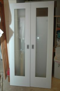 Handmade Closet Doors W Frosted Glass Panels by Wooden