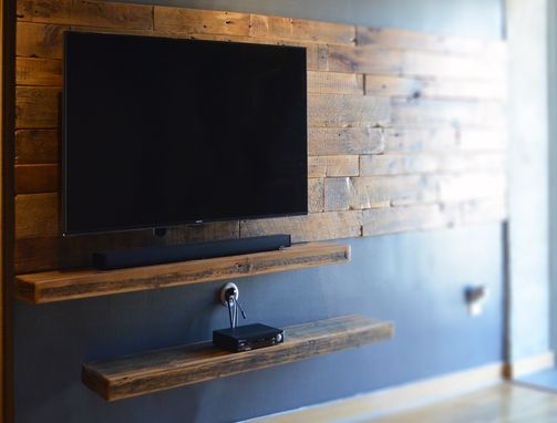 Hand Made Rustic Floating Shelves by Abodeacious