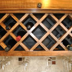 Built In Wine Rack Kitchen Cabinets Wall Shelves For Hand Crafted Custom By Noble Brothers