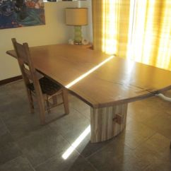Personalized Kitchen Items Oak Cabinet Doors Custom Made Live Edge Slab Dining Table With Curved Maple ...