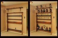 Hand Crafted Custom Wall Shelf Unit For Bar Memorabila by ...