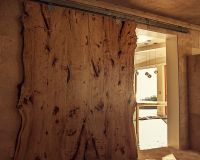 Custom Made Live Edge American Elm Slab Barn Door by ...
